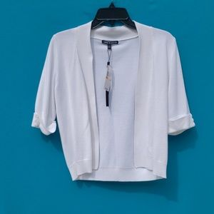Cable & Gauge White Cardigan Size Small